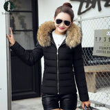 Fake Fur Collar DownParka Cotton Jacket 2018 Winter Jacket Women Thick Snow Wear Coat Lady Clothing Female Jackets Parkas