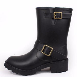 HEE GRAND 2018 Women Rain Boots Western Boots Women Ankle Boots with Buckle High Water Shoes XWX6737 - g-y-mega-store