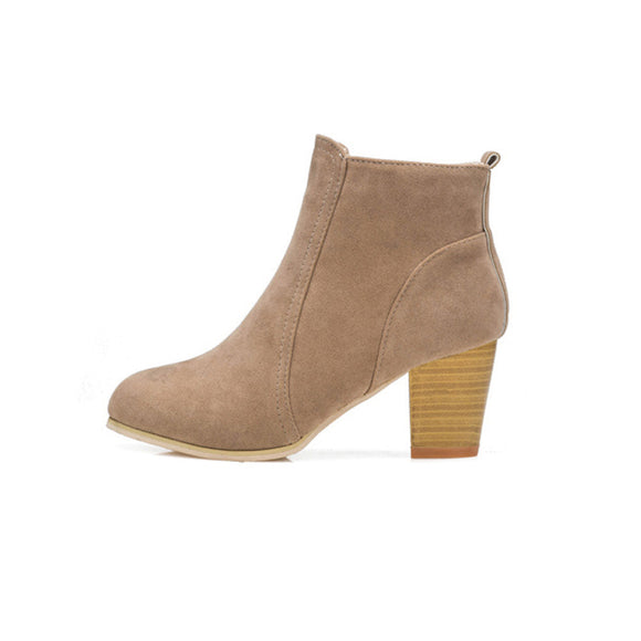 Autumn Winter Boots With High Heels Boots Shoes Martin Boots Women Ankle - g-y-mega-store