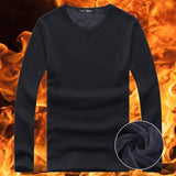 2018 Autumn Winter Style Men Home Leisure Velvet tshirt Warm Thermal Long Sleeve Men's t-shirt Cotton Big Size 5XL Male Tops Tee - g-y-mega-store