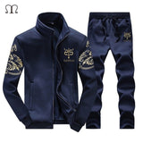 Tracksuit Men Set Fitness Brand CLothing Zipper Sportsuits Man Tracksuits With Pants Brand Jacket and pants Men Polo Sweat Suits - g-y-mega-store