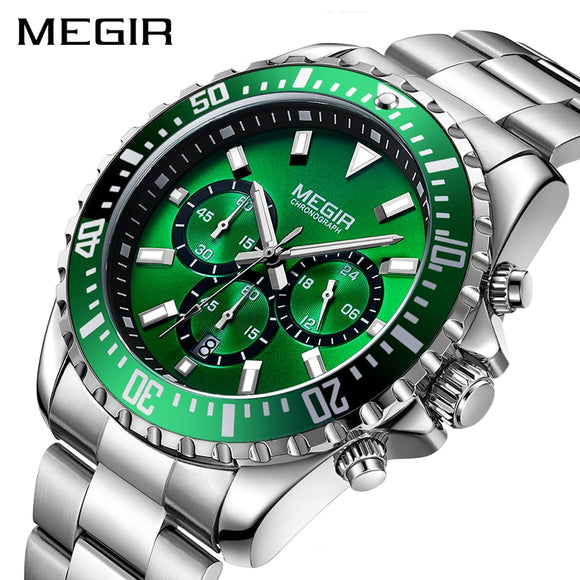 Top Luxury Brand Chronograph Quartz Men Wristwatch Stainless Steel Business Analog Watches Men Clock Hour Relogio Masculino - g-y-mega-store