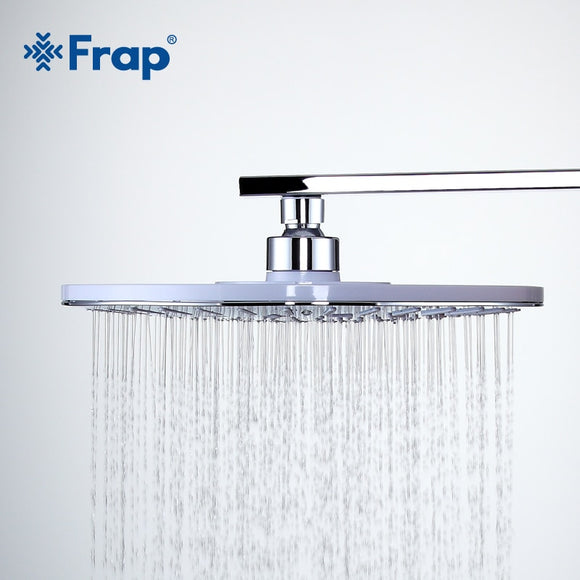 FRAP New Arrival 245mm Bathroom Round ABS shower head top water saving Overhead rain shower F008-25