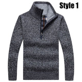 2018 Autumn and winter new wool coat Men's casual cashmere cardigan jacket Fashion collar collar men thick sweater knitted coats - g-y-mega-store
