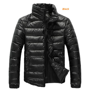 Mens Winter Coats Warm Parkas Stand-up Collar Jackets - g-y-mega-store