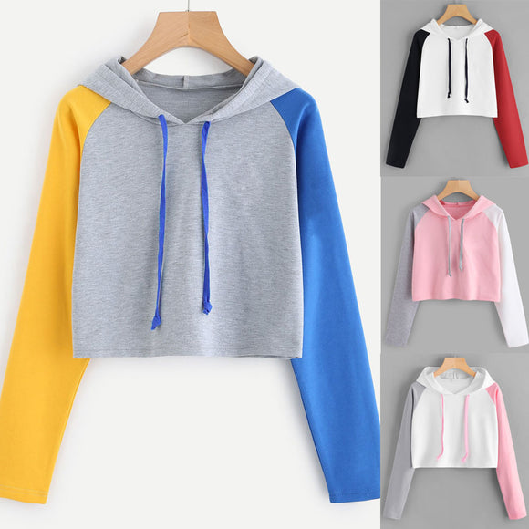 Womens Casual Long Sleeve Hoodie Sweatshirt Hooded Pullover Tops Blouse - g-y-mega-store