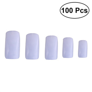 100PCS Nail Tips Artificial False Fake Nails Tips Nail Art Supplies for Nail Salons and DIY Nail Art