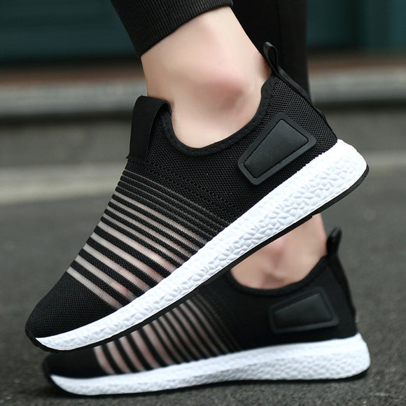 Men's Spring Casual Travel Shoes Breathable Flats Fashion Sport Shoes - g-y-mega-store