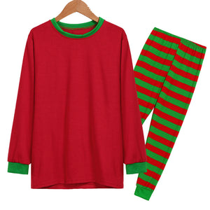 Man Family Matching Christmas  Pajamas Set  Blouse +Santa Striped Pants