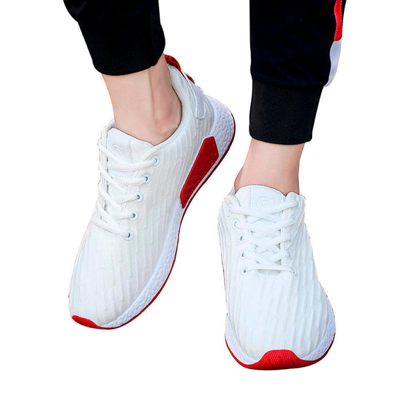 Women Men Mesh Shallow Mouth Cross Tied Casual Shoes Gym Shoes Skate Shoes - g-y-mega-store