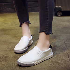 Ladies Women Out Sport Shoes Round Toe Platform Flat Heel Slip On Casual Shoes - g-y-mega-store