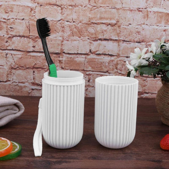 Portable Plastic Telescopic Toothbrush Toothpaste Storage Box Bottle Holder Container Outdoor Travel Wash Toothbrush Organizer
