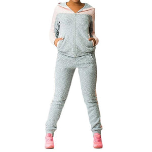 Women's Sports Suits Sexy Tracksuit 2 Piece Set Women Sportswear Jogging Track Suit Women Sport Set Two Piece Set Leisure