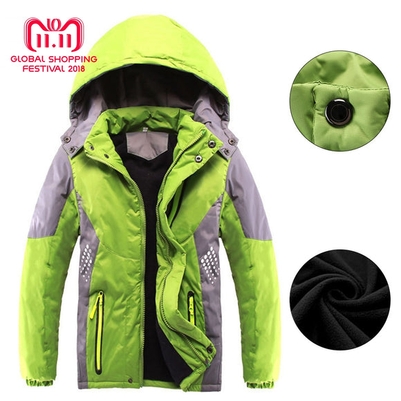 New Winter Thicken Warm Child Coat Kids Clothes Double-deck Windproof Boys Girls Jackets Children Outerwear For 3-14 Years Old - g-y-mega-store