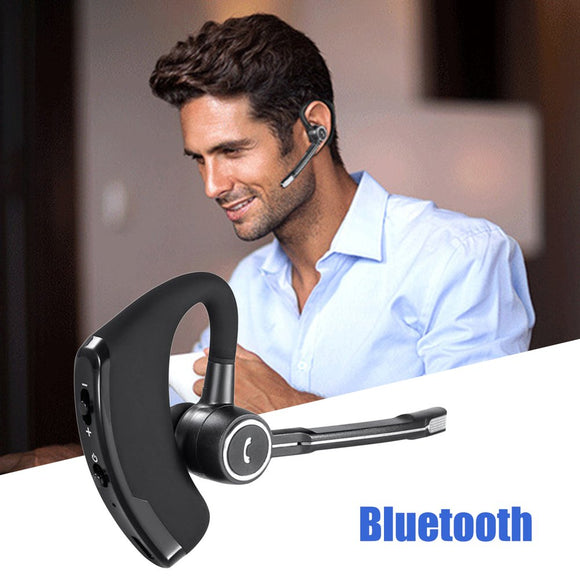 V8S Business Bluetooth Headset Wireless Earphone Car Bluetooth Hands-free Microphone CSR-8615 Chips Stereo Music Headset - g-y-mega-store