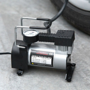 80 PSI 150W Air Compressor Metal Electric Tire Tyre Inflator Pump for Auto Bicycles Motorcycles With LED Flashlight 12V