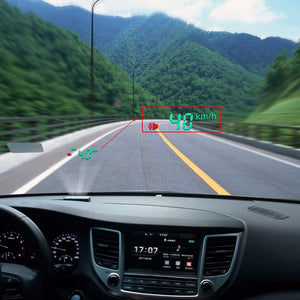 newUniversal Vehicle OBD HUD Head Up Display Car Speed Water Temperature Mileage Display Windshield Projection Safety Assistance - g-y-mega-store