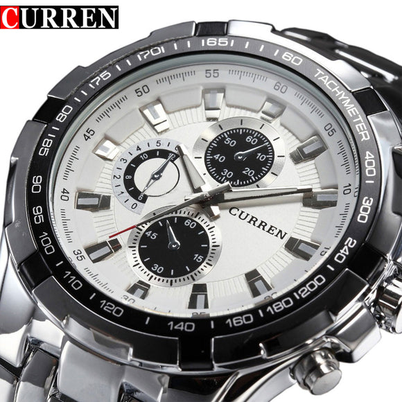 2018 Top Brand Luxury full steel Watch Men Business Casual quartz Wrist Watches Military Wristwatch waterproof Relogio SALE New - g-y-mega-store