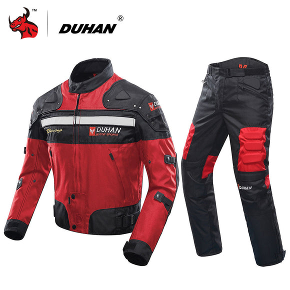DUHAN Motorcycle Jacket Winter Cold-proof Motocross Jacket & Motorcycle Pants Moto Suit Touring Clothing Protective Gear Set - g-y-mega-store