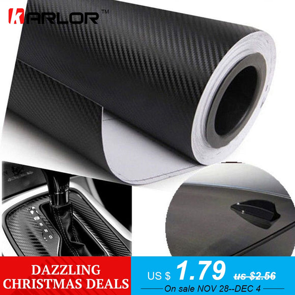 127cmx15cm 3D 3M Auto Carbon Fiber Vinyl Film Carbon Car Wrap Sheet Roll Film Paper Motorcycle Car Stickers Decal Car Styling - g-y-mega-store