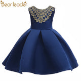 Bear Leader Girls Dress 2018 European and American Style Princess Dresses Back Bowknot Phnom Penh Party Dresses For 3-8 Year