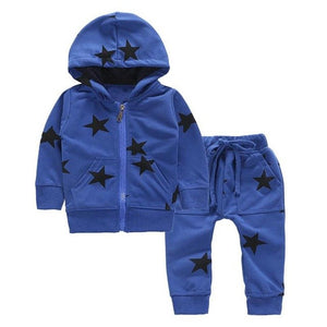 Autumn Casual Children Boys Clothing Set 2pcs Hooded Coat Pants Tracksuit Long Sleeve Children Clothing Suits Cotton Sport Suit - g-y-mega-store
