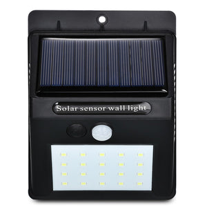 LED Solar Power PIR Motion Sensor Wall Light 20 LED Outdoor Waterproof Energy Saving Street Yard Path Home Garden Security Lamp - g-y-mega-store