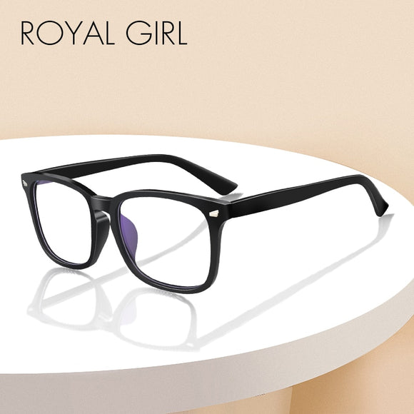 ROYAL GIRL Anti Blue Lights Glasses Women Men Classic Square Sunglasses Computer Reading Game Night Vision Nerd Eyeglasses os013 - g-y-mega-store