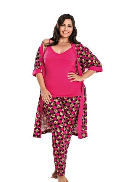 Women's Oversize 4 Pieces of Pajama Set