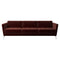 Canapea 3 locuri BoConcept Osaka Dusty Red Cotton Velvet
