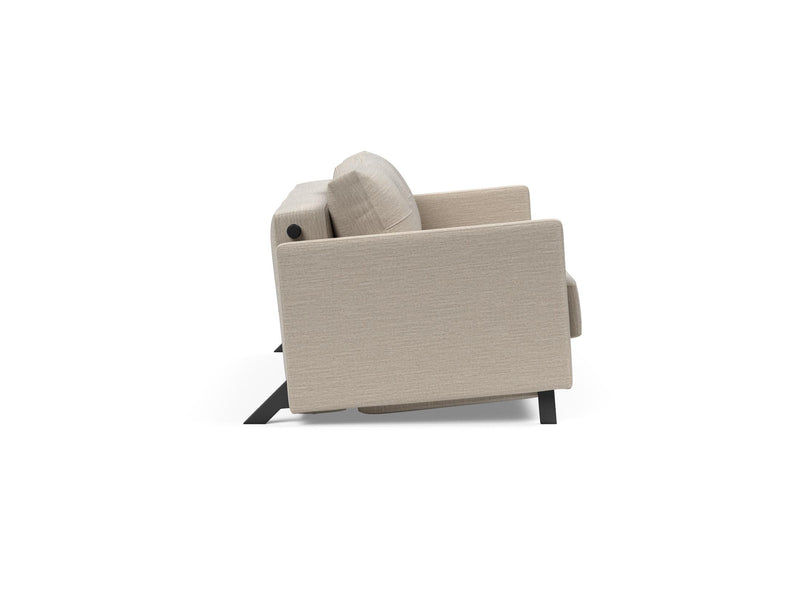Canapea extensibila cu cotiere Innovation Living Cubed Deluxe 140-200