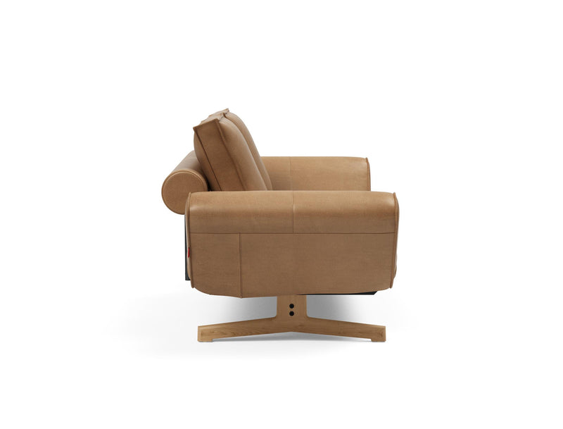 Canapea / pat de zi Innovation Living Ghia Faunal Brown / Picioare Stejar