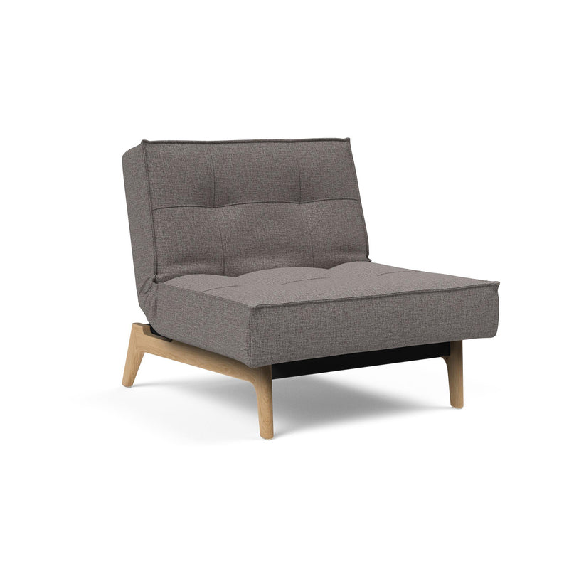 Fotoliul recliner Innovation Living Splitback Eik stejar Mixed Dance Grey
