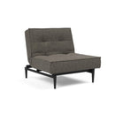 Fotoliul recliner Splitback Styletto Flashtex Dark Grey / lemn negru