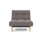 Fotoliul recliner Innovation Living Splitback Styletto natur Mixed Dance Grey