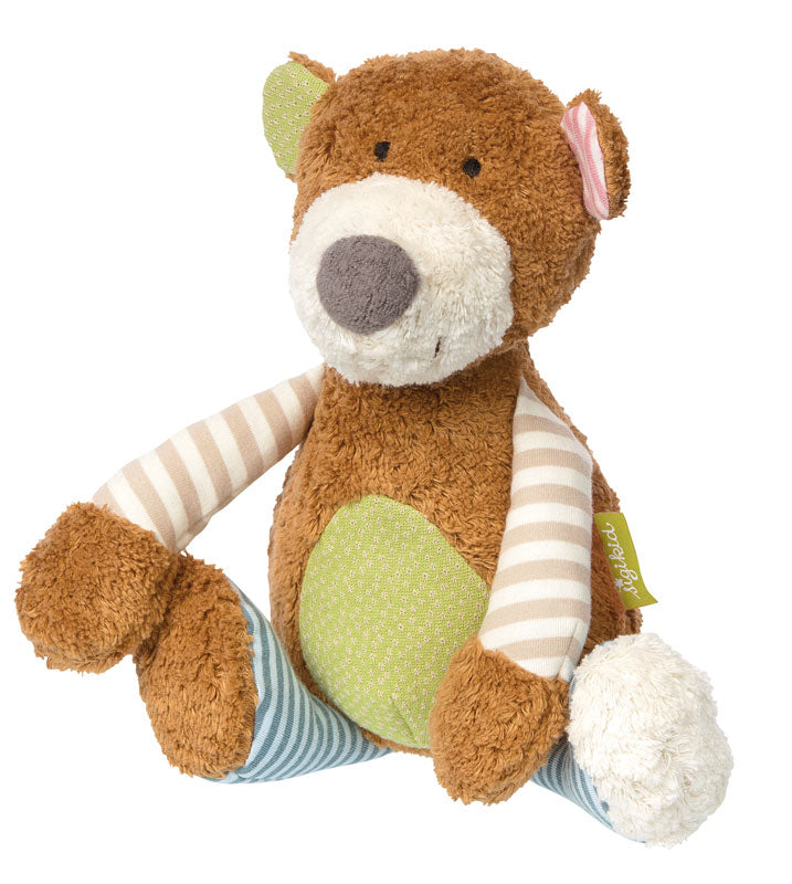 Jucarie de plus Organic Bear Patchwork