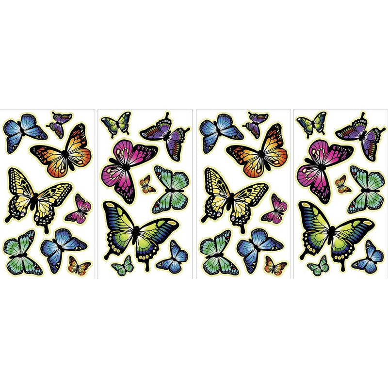 Sticker decorativ  fosforescent cu fluturasi WallPops Butterflies Glow in the dark