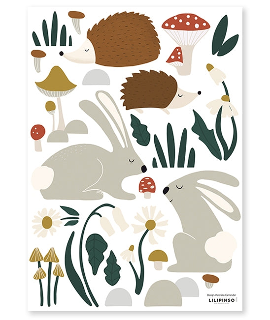 Sticker A3 (29,7x42cm) - HEDGEHOG