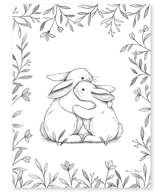 Poster (30x40cm) - BUNNY LOVES YOU