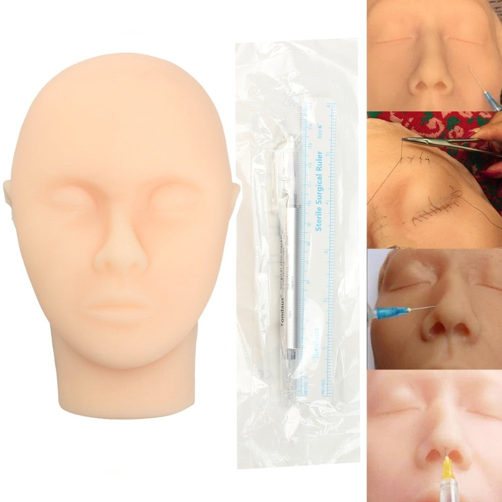 Human Like Silicone Head For Surgery Practise / FREE GLOBAL DELIVERY