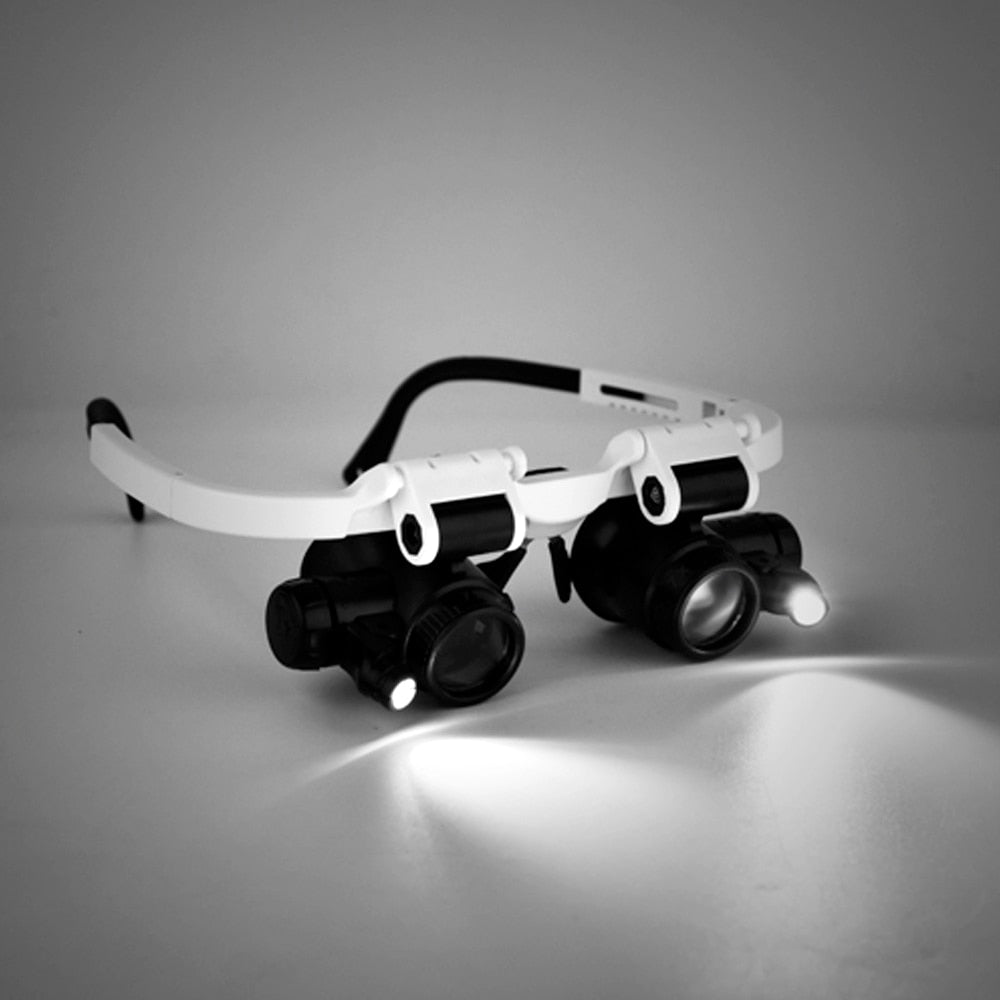 Magnifying Loupes With Attached Led Lights