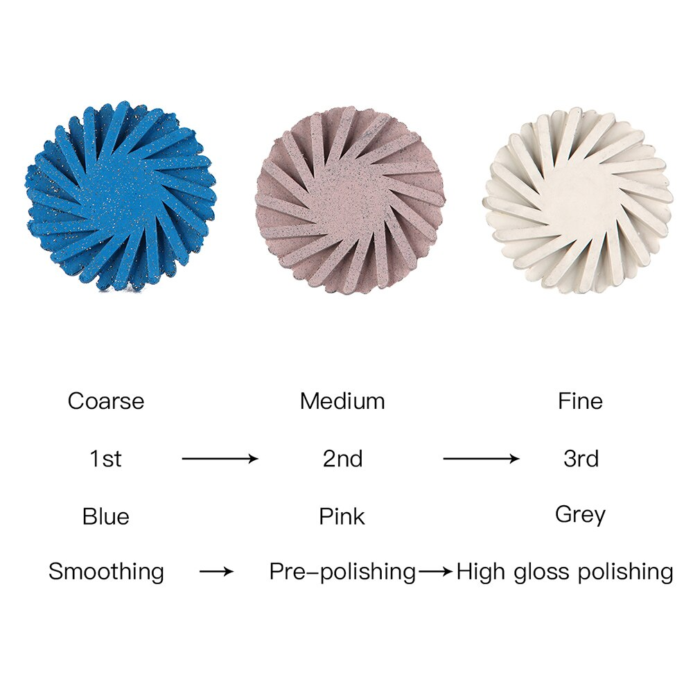 6pcs Composite Polishing Discs Kit
