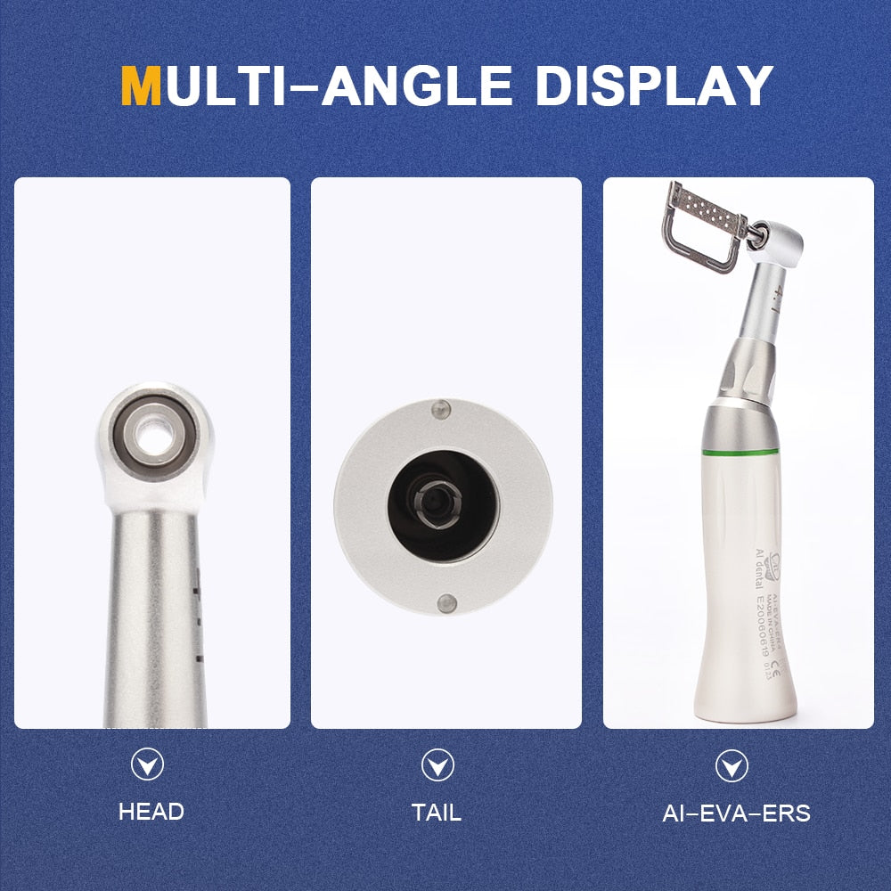 Orthodontic tools : Interproximal strips+  IPR system + contra angle low speed handpiece