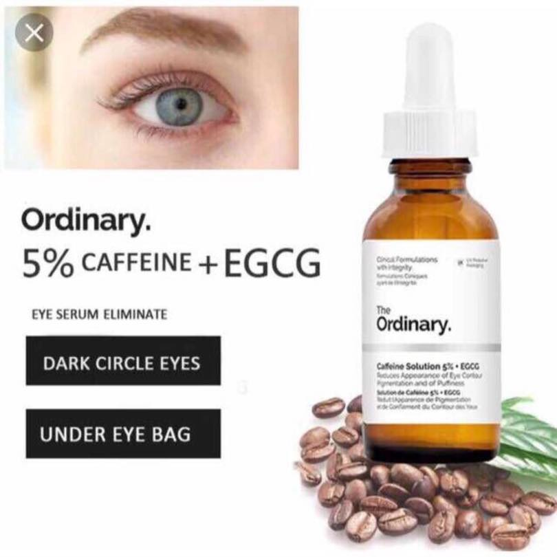 Caffeine Solution 5% + EGCG Eye Serum Removes Dark Spots, Freckles, Eye bags
