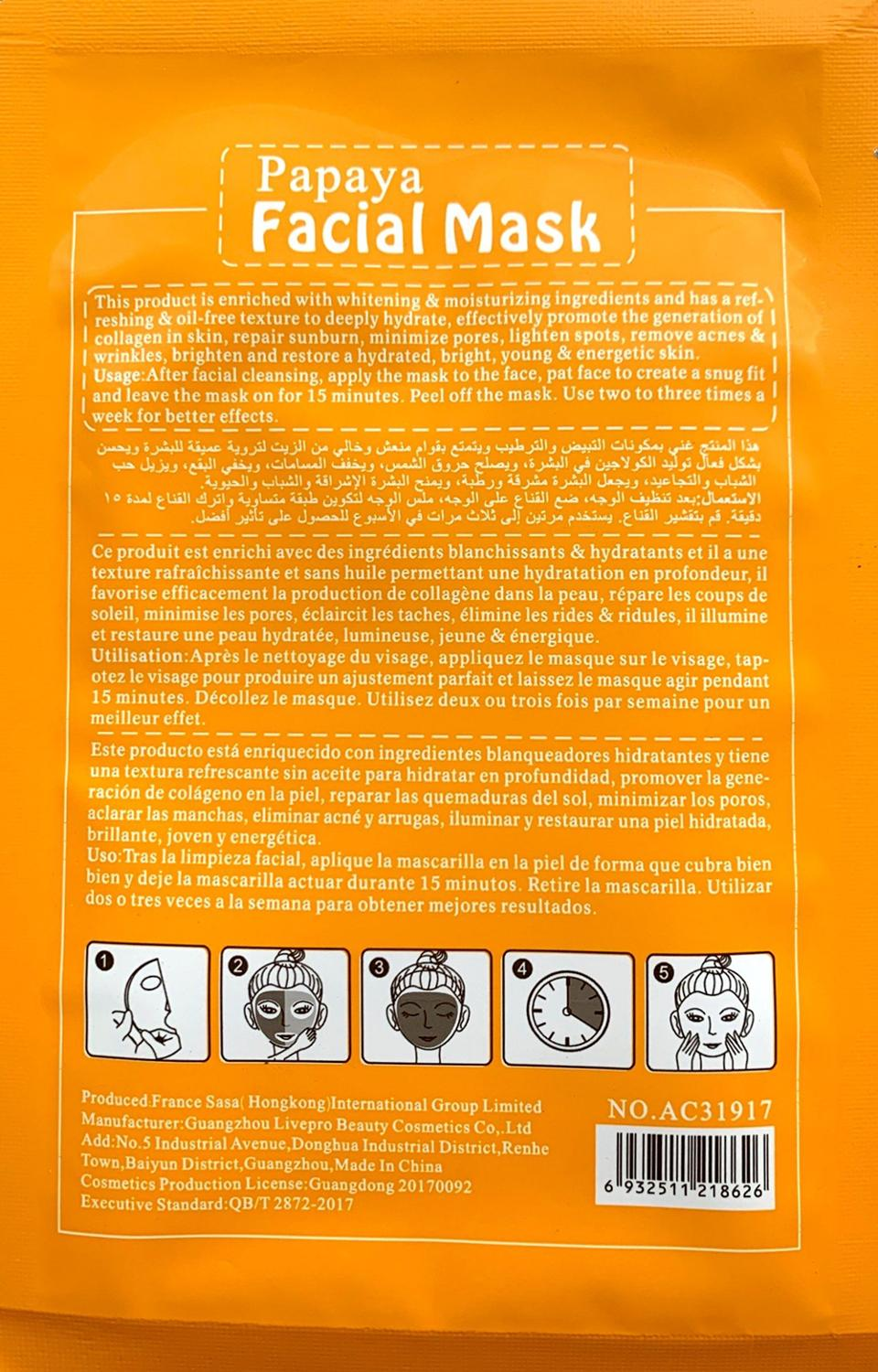 Papaya Extract Face Mask