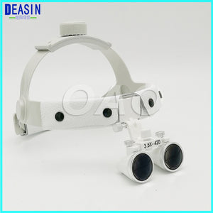 High quality Dental Surgical Binocular X3.5 Leather Headband Loupe and LED Headlight