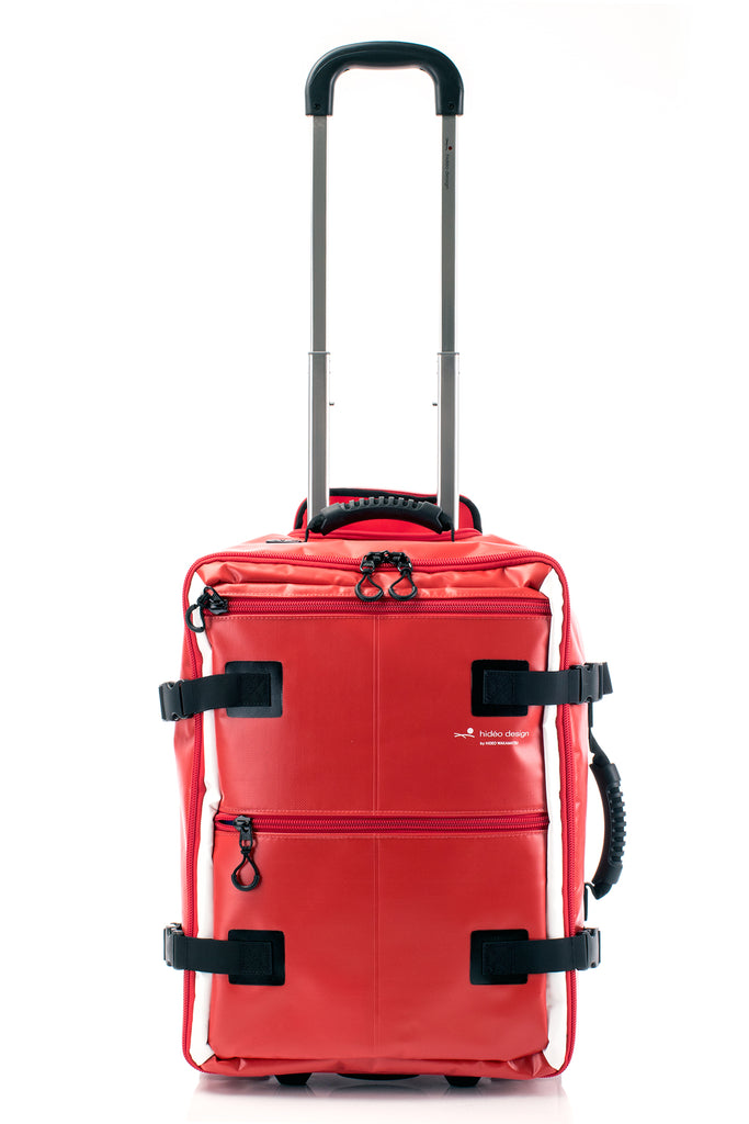 Hideo Wakamatsu Tarpaulin Carry-On Red