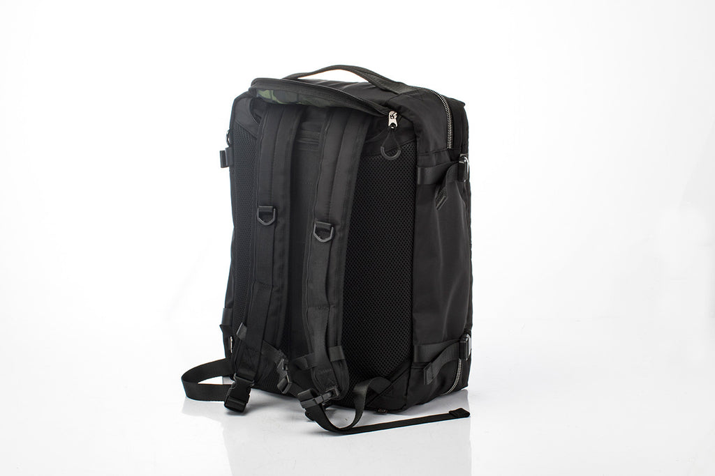 Hideo Wakamatsu Musette Travel Bag Black