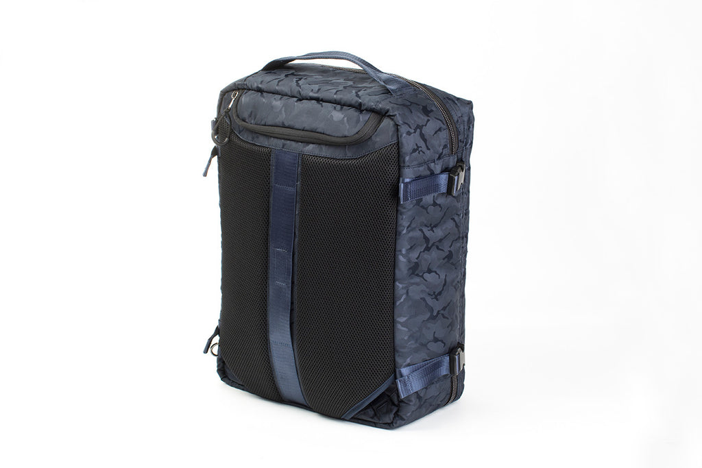 Hideo Wakamatsu Musette Travel Bag Navy Camo