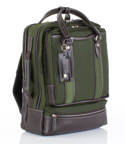 Hideo Wakamatsu Bring Laptop Backpack Green